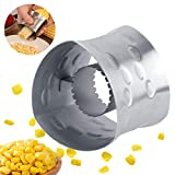 Tiggrioe Corn Stripper for Home Kitchen Restaurant Use, Portable Stainless Steel Corn Peeler, Cob Corn Remover...