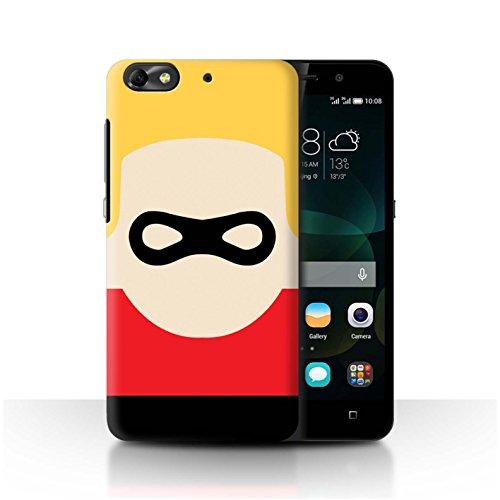 Stuff4 Super Hero Art Collection - Funda para móvil, diseño de dibujos animados carácter. Huawei G Play Mini
