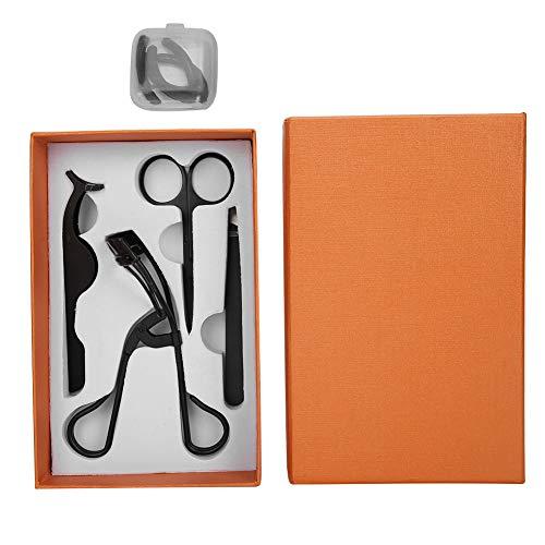 Juego de 4 herramientas de maquillaje de pestañas, herramienta de pestañas postizas para cortar injertos de pestañas, rizador de pestañas para recortar pestañas postizas, tijeras, pinzas