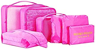Packing Cubes (1 Sets - 7 Pieces) Luggage Organizers Laundry Bags Travel Accessory Toiletries Clothing Medicine Shoes Pass...
