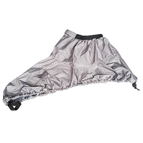 D DOLITY Staubschutz Kajak Spritzdecke Wasserfeste Spritzschutz Cover Decke Abdeckung - M Grau
