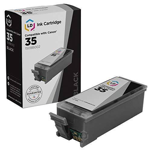 LD Compatible Replacement for Canon PGI35 Black Inkjet Cartridge for use in Canon PIXMA iP100, and iP110, Printers