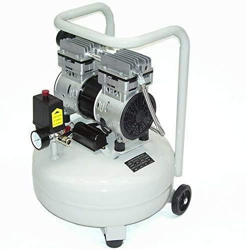 Druckluft Kompressor leise 40292 Flüsterkompressor 24 ltr ölfrei Luftkompressor AWZ