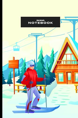 Skiing Notebook: Stylish Lined Note Taker Journal For Snowboarder Skateboarder Surfers Cross Country Ice Skiing Ski Jumping