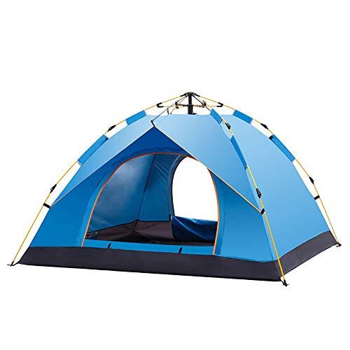 Tienda de campaña WyaengHai Hexagonal impermeable domo automático para deportes al aire libre tienda de campaña para senderismo camping al aire libre (color: azul)