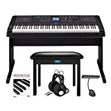 BUNDLE INCLUDES: Yamaha DGX-660 88-Key Digital Grand Piano with a Knox Gear Furniture Style Flip-Top Piano Bench, Knox Gear Closed-Back Studio Headphones, Knox Gear Rechargeable Music Light (Black), and Focus on Piano - A Concise Approach to Learning...