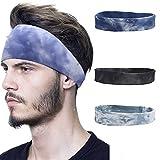 3 unids diademas para hombres que absorben la humedad del entrenamiento de la bufanda para el pelo largo para correr yoga entrenamiento ciclismo