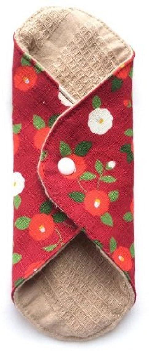 形状法律気づかない華布 オーガニックコットンのあたため布 Mサイズ(約15×約15cm) 華椿(紅)