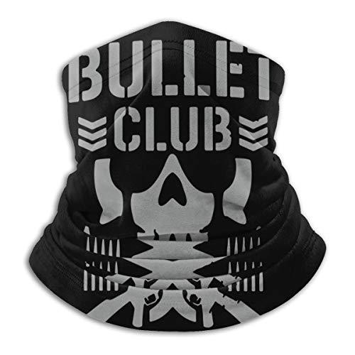 Bullet Club Neck Gaiter Warmer Windproof Face Mask Dust for Men Women