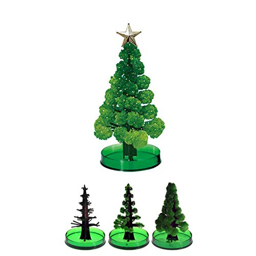 Owill 2 Pack Growing Christmas Tree DIY Magic Crystal Growing Tree, Christmas Presents, Fun Xmas Gift Toy for Kids with Instructions, Grows in Hours【US Fast Shipping】 (2 Pack)