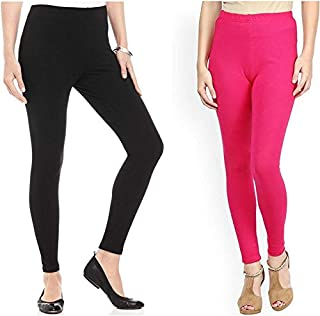 Swastik Stuffs Ankle Length Leggings Combo for Women Free Size (Pack of 2)