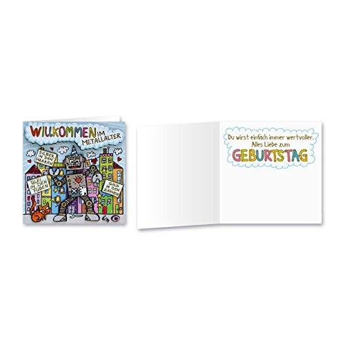 Sheepworld, Gruss & Co - 90042 - Klappkarte, mit Umschlag, Geburtstagsgrüsse mit Pop Nr. 42, Willkommen im Metallalter