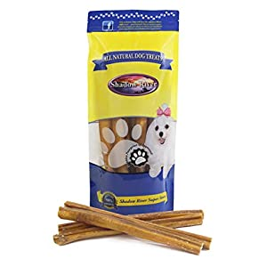 Shadow River Jumbo 12 Inch 100% Beef Bully Sticks for Large Dogs Extra Thick – Grass Fed Grain Free Long Lasting Chew Treats for Aggressive Power Chewers – Pack of 10