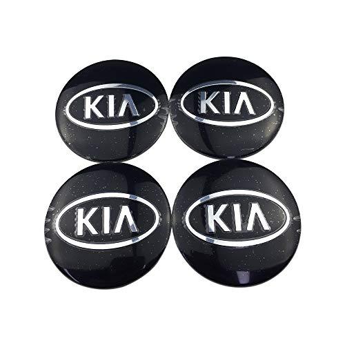 LIUSHI Etiqueta engomada del Coche de la aleación de Aluminio del Centro de la Rueda del Coche para KIA Emblema Sportage Soul Sorento CEED PICANTO Optima Accesorios tapacubos (Color Name : E Silver)