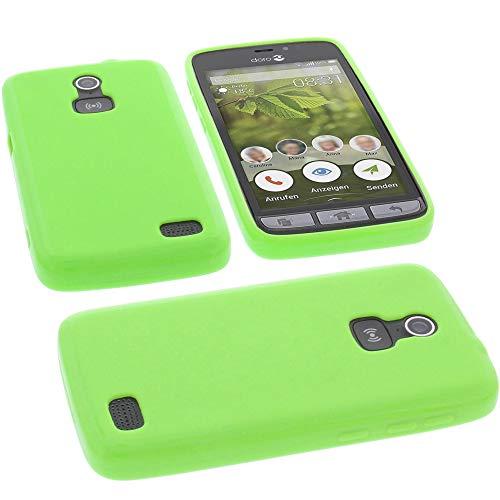 foto-kontor Tasche für Doro 8031 Hülle Gummi TPU Schutz Handytasche grün