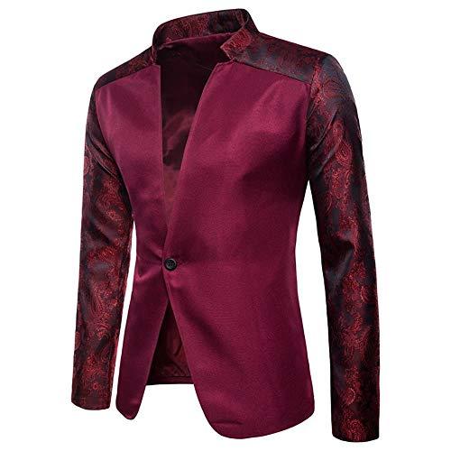 QXPORV Mannen Blazer voor heren, eenkleurige raglanmouwen van de herenmodellen voor herfst en winter ontwerpen een herenpak met knop op de revers
