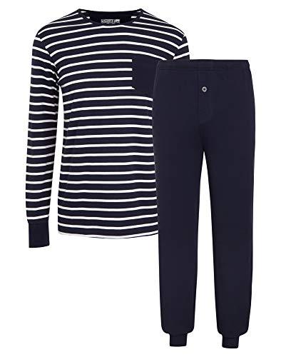 Jockey® Cotton Nautical Stripe Full Knit Pyjama