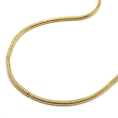 Latotsa Vergoldete Schlangenkette Schlange Schlangen Kette Halskette Gelbgold Gold Plattiert Vergoldet Goldkette Schmuck Lang 60cm