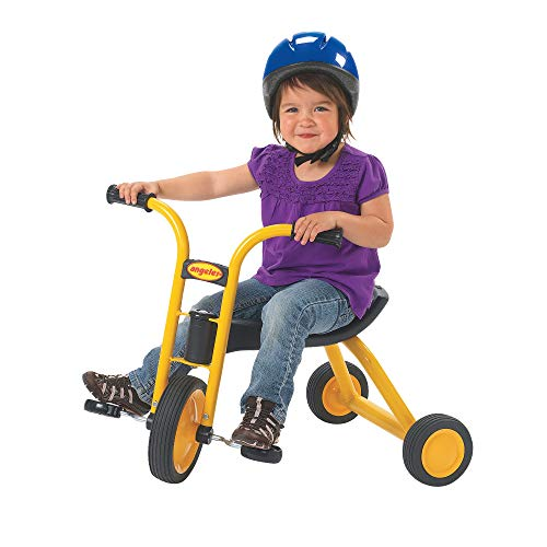 Angeles MyRider Mini Trike Bike, Yellow – Perfect for Beginning Riders Ages 2+, Encourages Active Play, Supports Up to 70lbs., Durable Design, Built-In Safety Features, Comfortable Ride, Solid Tires