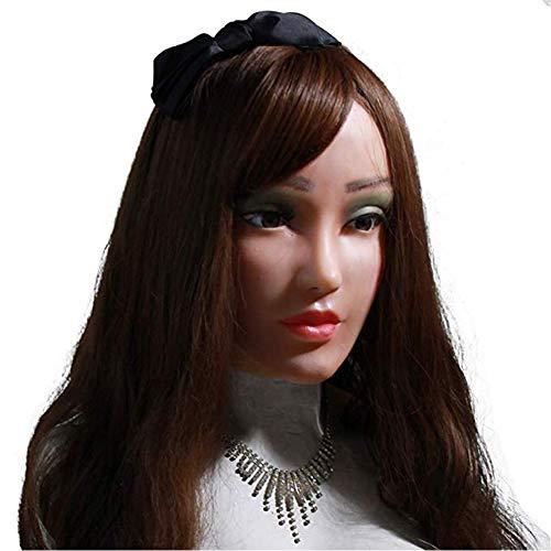 Máscaras De Maquillaje Hechas A Mano Cara Cosplay Hombre A Mujer Transexual Disfraces De Halloween