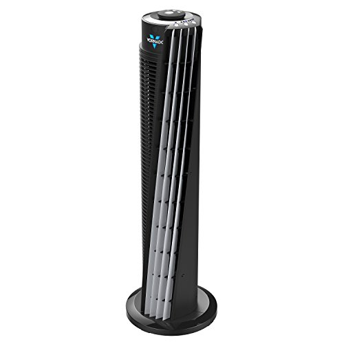 """Vornado 143 Whole Room Air Circulator Tower Fan with Timer and Remote Control, 29"""", Black"""