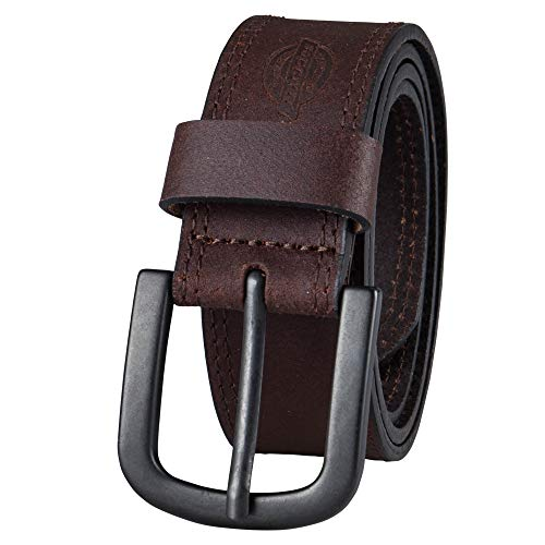 Dickies Men's Casual Leather Belt, Brown, 36