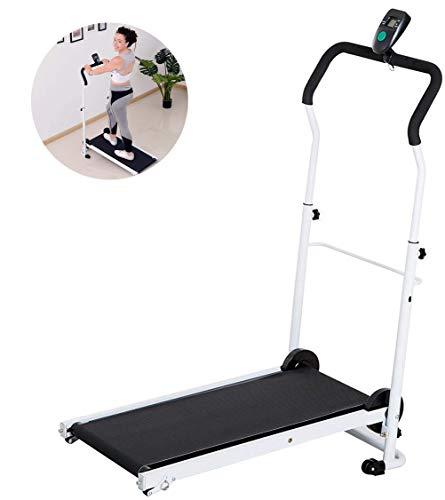LUHUIYUAN Folding Tapis roulant, Manuale Pieghevole LCD Tilt Allenamento di Ginnastica Aerobica Domestica Treadmill Piccolo Mini Perdita di Peso Indoor Attrezzature per Il Fitness
