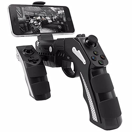 ZDSKSH Gamepad AR Gun Gamepad de Forma, Controlador de Videojuegos de 360 Grados, teléfono móvil, Bluetooth inalámbrico para iOS y Android, Pistola de Juegos AR para niños y Adultos