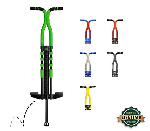 New Bounce Pogo Stick for Kids - Pogo Sticks for Ages 9 and Up, 80 to 160 Lbs - Pro Sport Edition, Quality, Easy Grip, PogoStick for Hours of Wholesome Fun (Black & Green)
