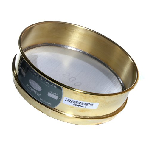 Advantech Brass Test Sieves with Stainless Steel Wire Cloth Mesh, 8