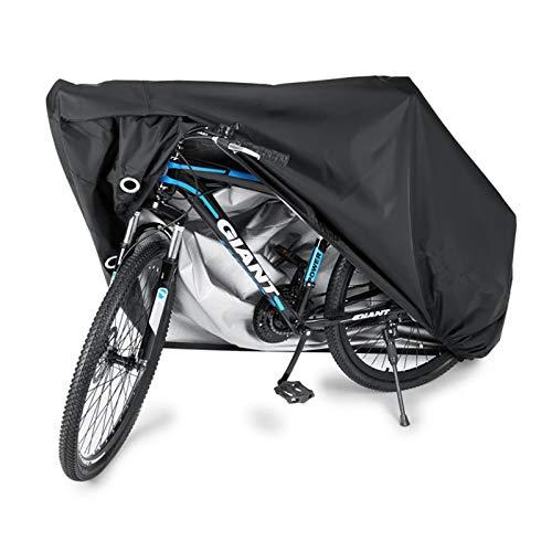 Cubierta de bicicleta para almacenamiento al aire libre,carpa plegable para bicicletas,Oxford de poliéster impermeable 210D resistente con orificios de bloqueo para bicicletas de montaña y carretera