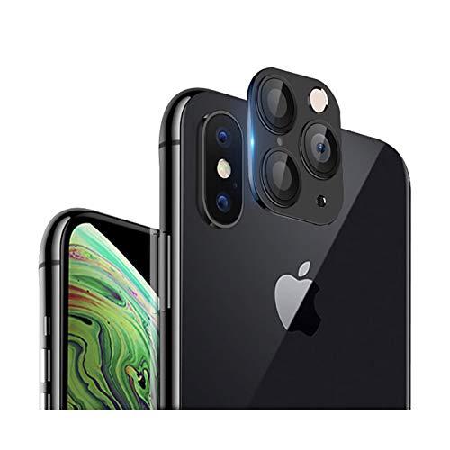 Dikkar iPhone X Convertir a iPhone 11 Pro/11 Pro MAX Lente, Protector de Lente de Cámara para iPhone X/XS/XS MAX, Cámara Mejorada Película de Vidrio Templado Antiarañazos, Cambiar a Nuevo iPhone