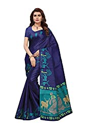 Anni Designer Womens Khadi Mix Fabric Saree With Blouse