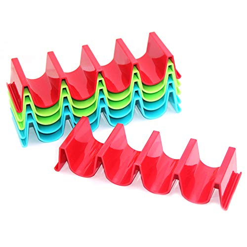 SENHAI 6 Pcs Taco Holder Stand, PP Health Material Taco Truck Tray Rack...