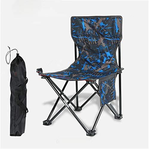 YBWEN Klappstuhl Tragbare Faltbare Mini Stuhl Leichte Camping Wandern Reise Angeln Hocker Klappstuhl Schwere Rahmen Stuhl Folding Chair Camp (Farbe : D, Size : L)