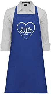 CollegeFanGear Kappa Alpha Theta Full Length Royal Apron 'Little in Heart'