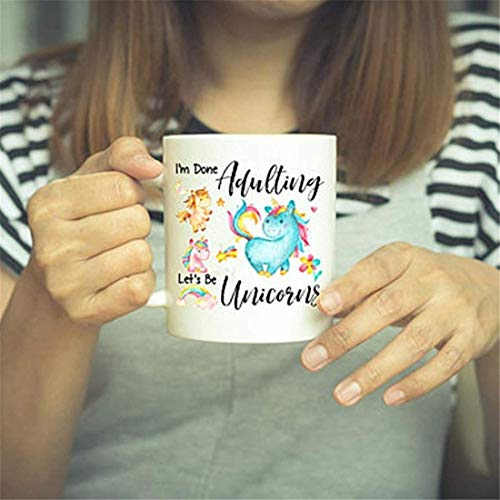 UUGOD Unicorn Gift, Unicorn, Unicorn Gifts, Unicorn Mug, Unicorn Decor, Rainbow Unicorn, Unicorn Lover, Birthday Gift, Rainbow, Funny Coffee Mug