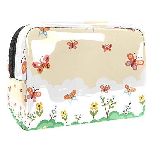 Edificios Imprimir bolsa de cosméticos bolsa bolsa bolsa (7.3x3x5.1in/18.5x7.5x13cm) Kit de viaje para hombres y mujeres
