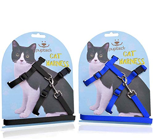 PUPTECK Adjustable Cat Harness and Leash