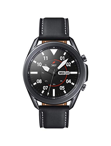 Samsung Galaxy Watch 3 (45mm, GPS, Bluetooth) Smart Watch with Advanced Health monitoring, Fitness Tracking , and Long lasting Battery - Mystic Black (US Version) (Renewed)