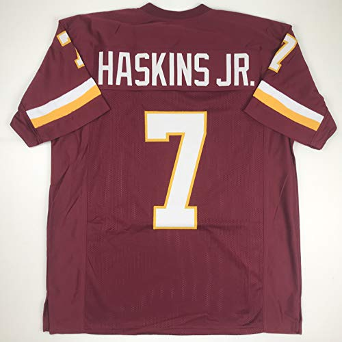 Unsigned Dwayne Haskins Washington Burgundy Custom Stitched Football Jersey Size Men's XL New No Brands/Logos