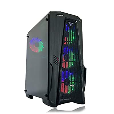 Gaming PC Desktop Computer Intel i5 3.10GHz,8GB Ram,1TB Hard Drive,Windows 10 pro,WiFi Ready,Video Card Nvidia GTX 650 1GB, 3 RGB Fans