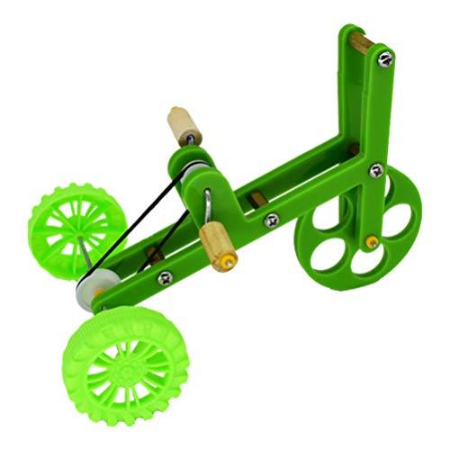 VILLCASE Papagei Trainingsspielzeug Mini Fahrrad Spielzeug Papagei Fahrrad Spielzeug Intelligenz Trainingsspielzeug für Sittich Nymphensittich Conure Wellensittiche Lovebird (Grün)