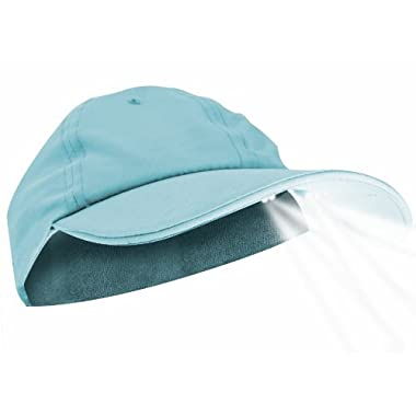 Panther Vision PUP POWERCAP LED Unisex Lighted Dog Walking Hat - 100% Cotton Twill Sky Blue