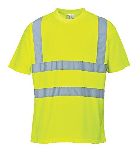 Portwest S478YERS Camiseta de Manga Corta, Hi-Vis , S, Amarillo (Yellow)