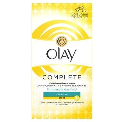 Olay SPF15 Complete Lightweight 3-in-1 Moisturiser Day Fluid Sensitive, 100 ml by Olay by Olay