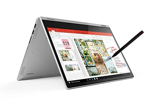 Lenovo IdeaPad C340 Notebook Convertibile, Display 14' Full HD IPS, Processore Intel Core i i3-10110U,512GB SSD, RAM 8GB, Fingerprint, Lenovo Active Pen, Windows 10,Platinum