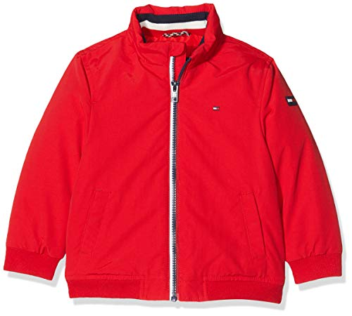 Tommy Hilfiger Dg Essential Jacket Chaqueta, (Red Xa9), 140 (Talla del Fabricante: 10) para Niños