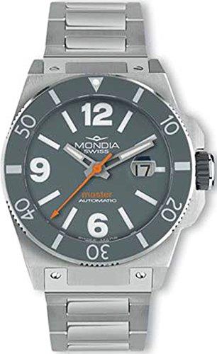 Mondia swiss master orologio Uomo Analogico Automatico con cinturino in Acciaio INOX MS 200-3GY-BM