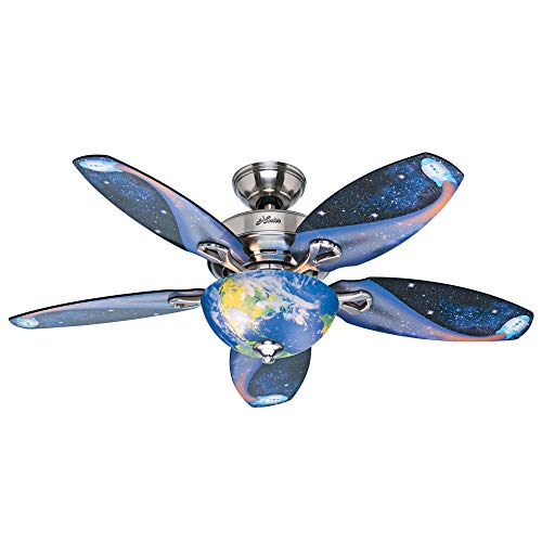 Hunter Fan Company 52298 Discovery Ceiling Fan, 48, Brushed...
